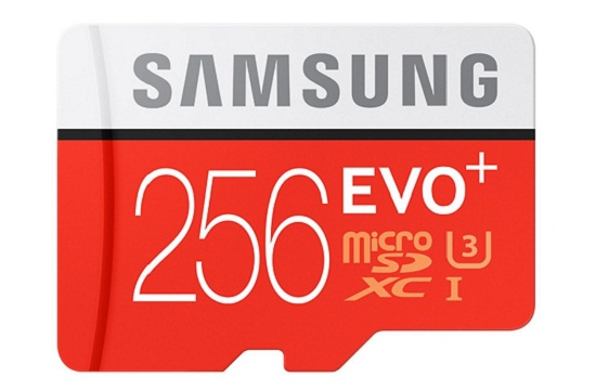 Gear VR Samsung EVO Plus microSD card